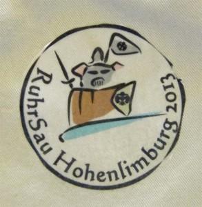 Juffilager Hohenlimburg 2013 - Ritter Aufnaeher auf der Kluft